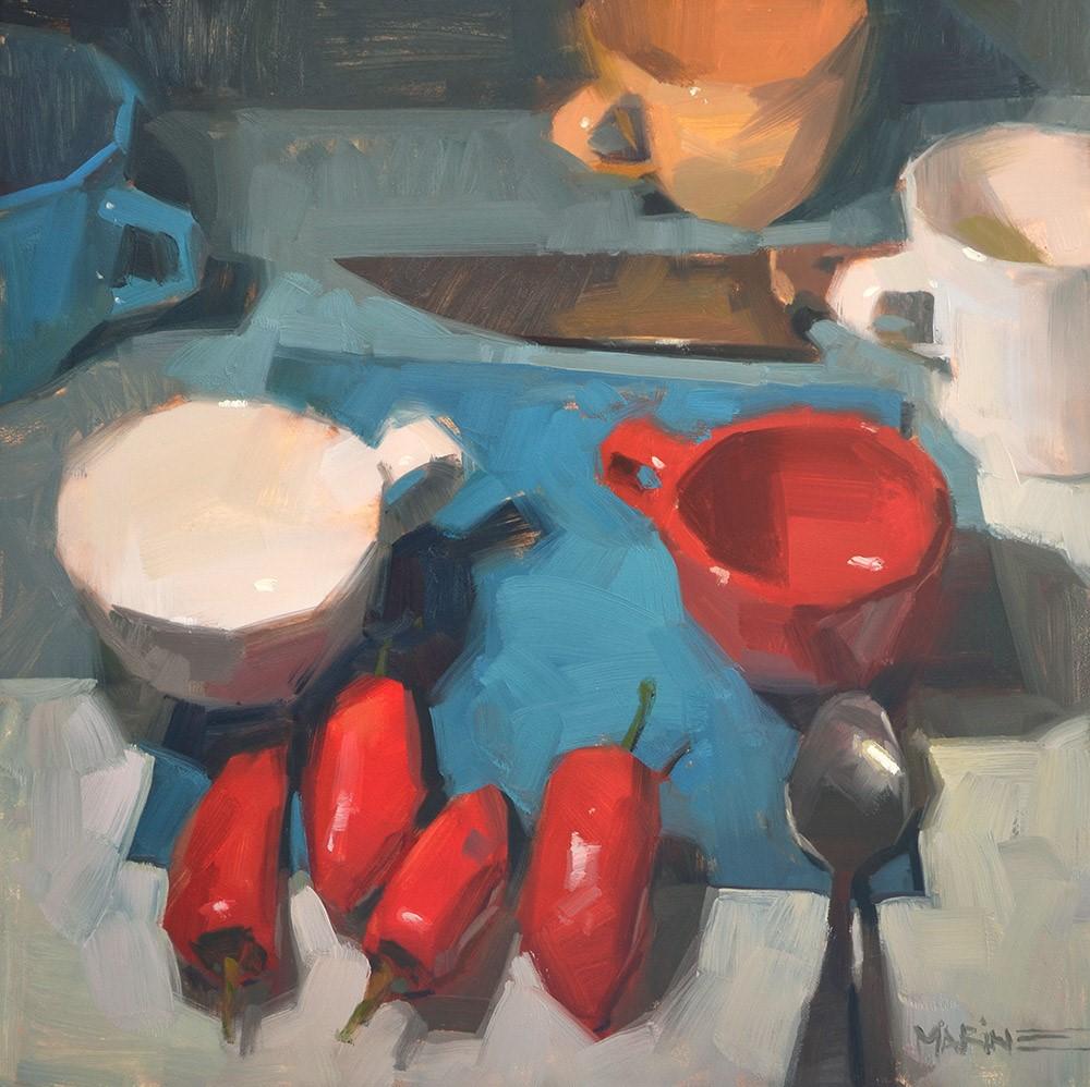 """""""Cup Cult"""" original fine art by Carol Marine"""