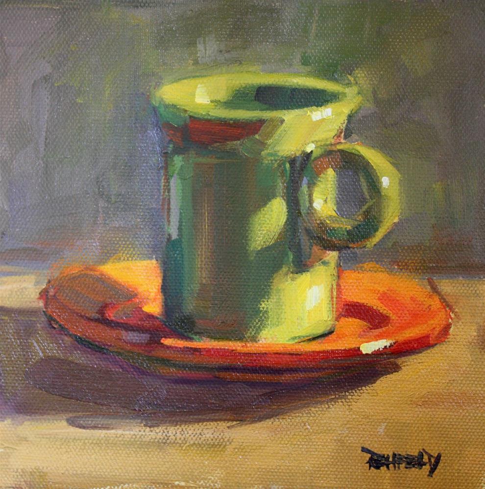 """Green Tea Fiestaware"" original fine art by Cathleen Rehfeld"