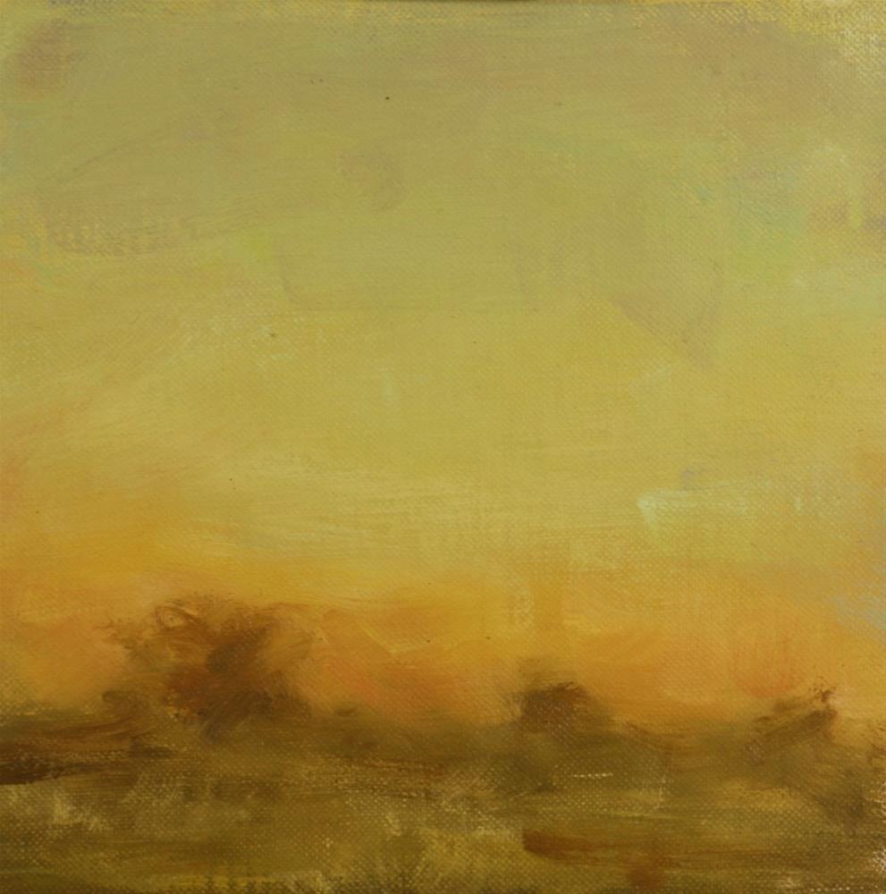 """""""Fall Sunset 10"""" original fine art by Scott Serafica"""