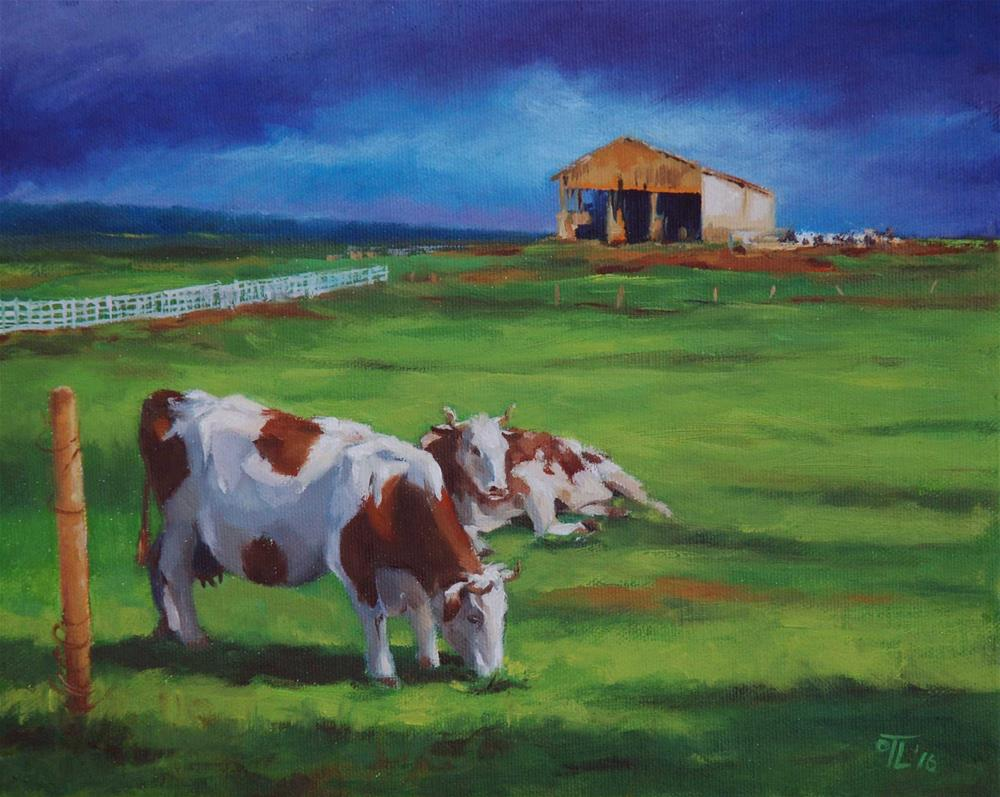 """DCS#39 The Curious Cow Challenge"" original fine art by Olga Touboltseva-Lefort"