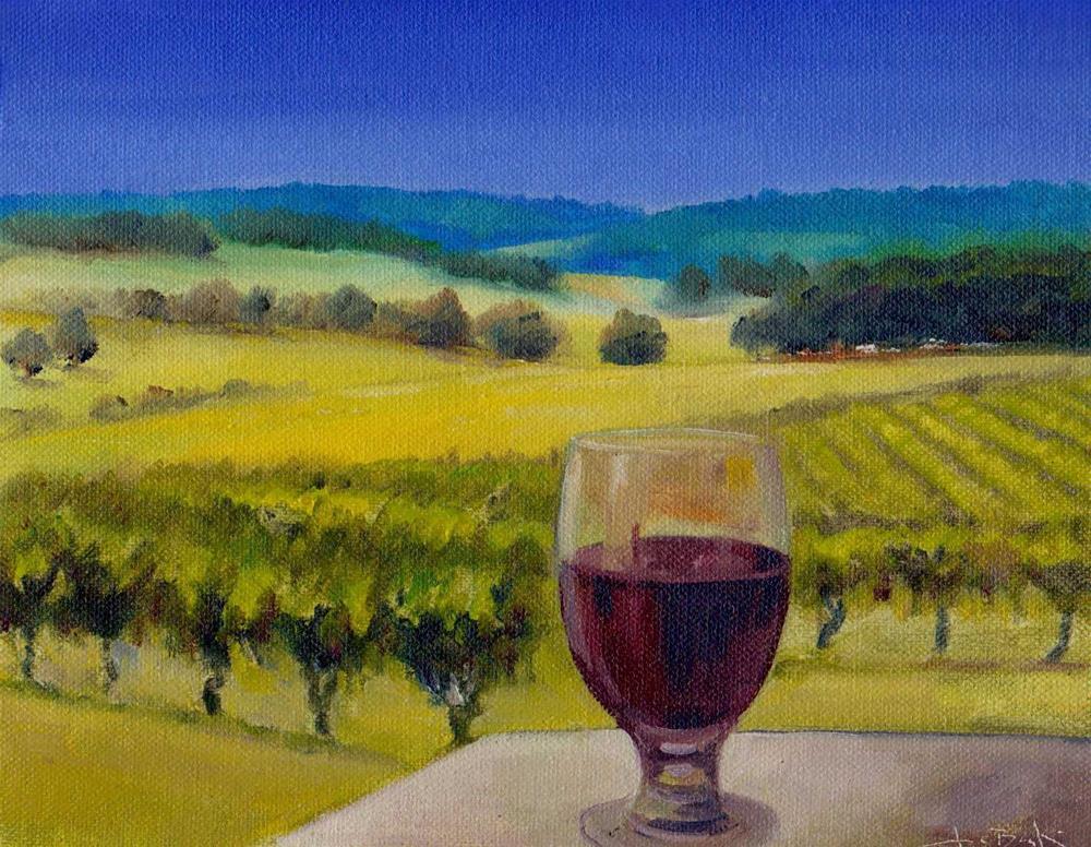 """challenge. Grapes"" original fine art by Mark DeBak"