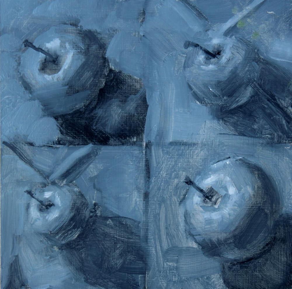 """10 Minute Apples"" original fine art by Heather Nibert"