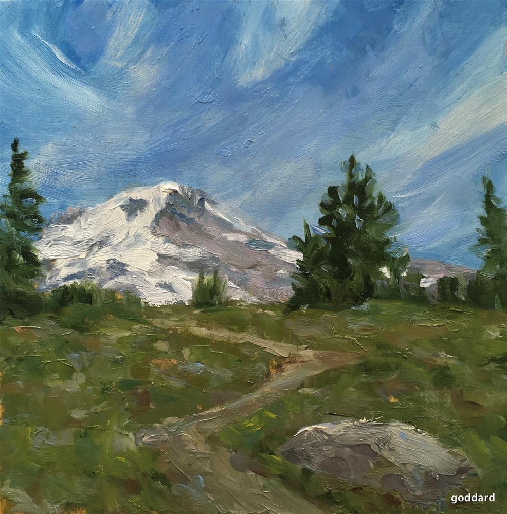 """Summit"" original fine art by Shari Goddard Shambaugh"