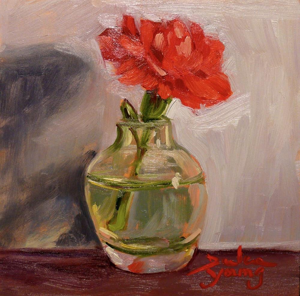 """Little Carnation"" original fine art by Darlene Young"