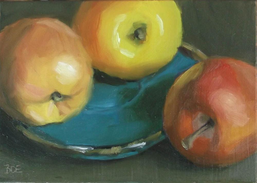 """Apple Fools Day"" original fine art by Karen Boe"