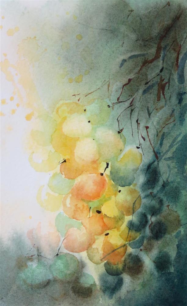 """""""Grapes I"""" original fine art by Christa Friedl"""