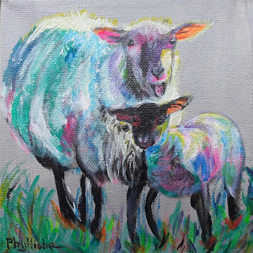 """Mother and Child"" original fine art by Phyllisha Hamrick"