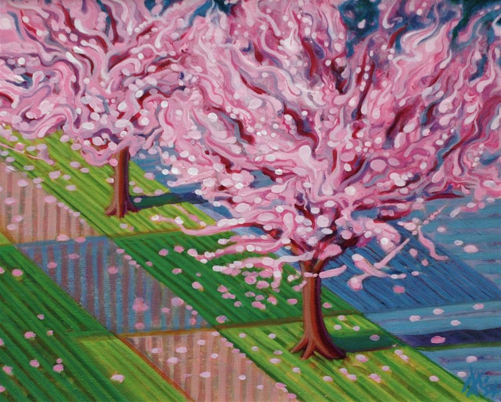 """Plum Blossom Ecstasy"" original fine art by Mark Allison"