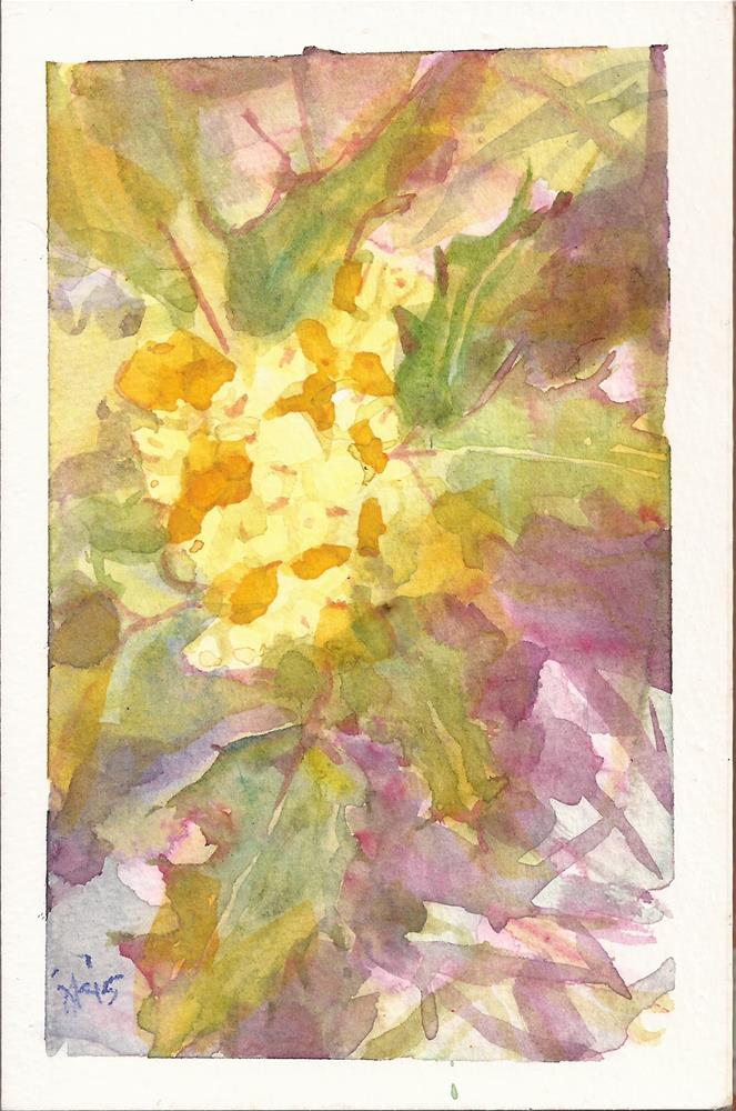 """Oregon Grape 2, Mahonia aquifolium"" original fine art by Jean Krueger"