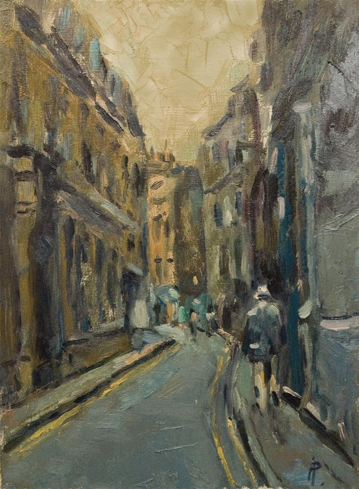 """""""Street off Piccadilly"""" original fine art by Andre Pallat"""