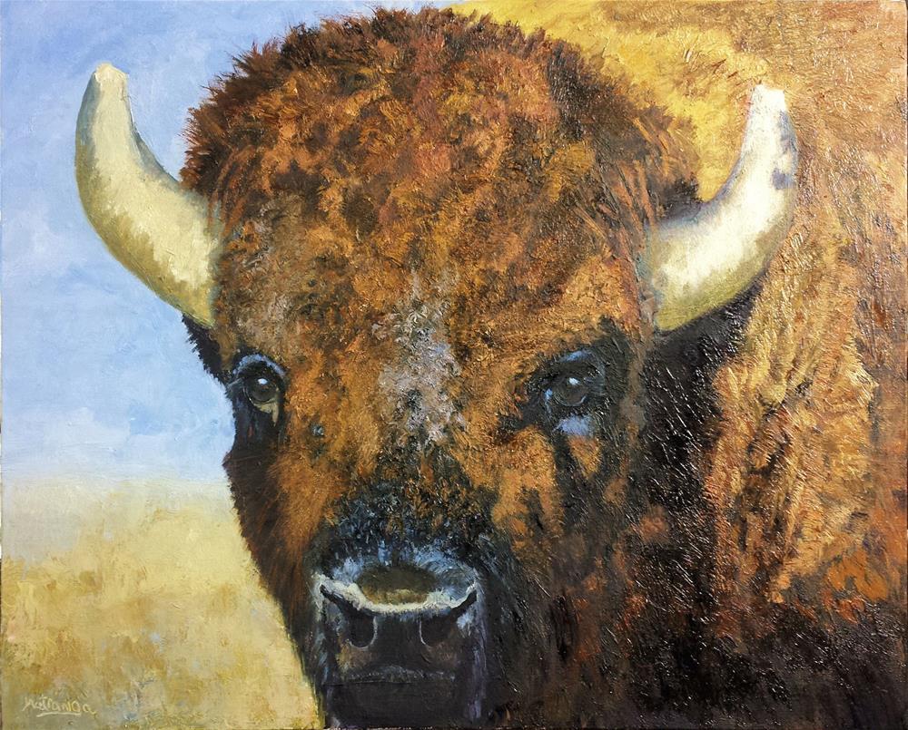 """Iconic Bison"" original fine art by Patricia Matranga"
