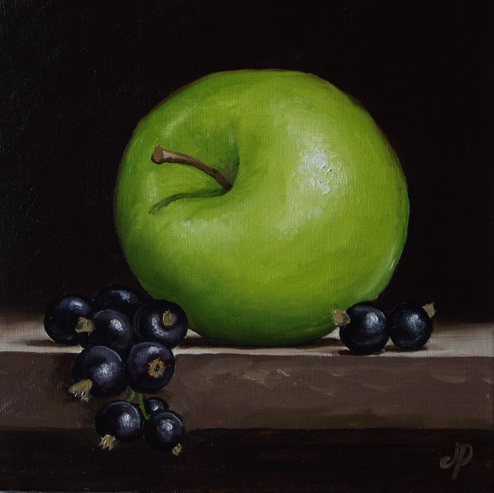 """Apple and Blackcurrant"" original fine art by Jane Palmer"