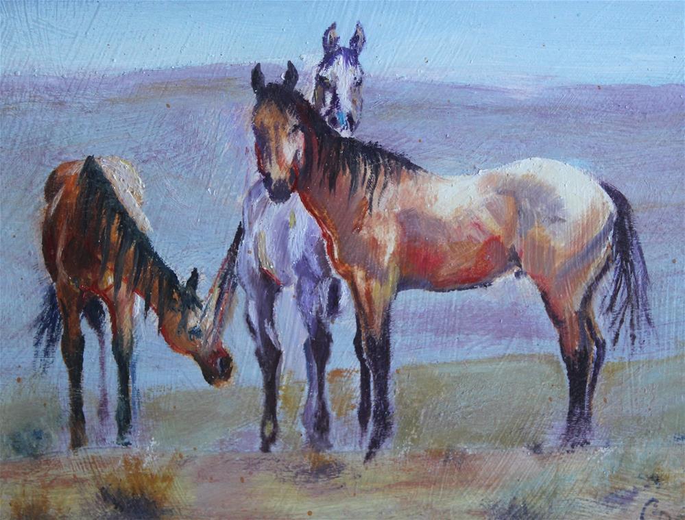 """Crow Horses"" original fine art by Colleen Drury"