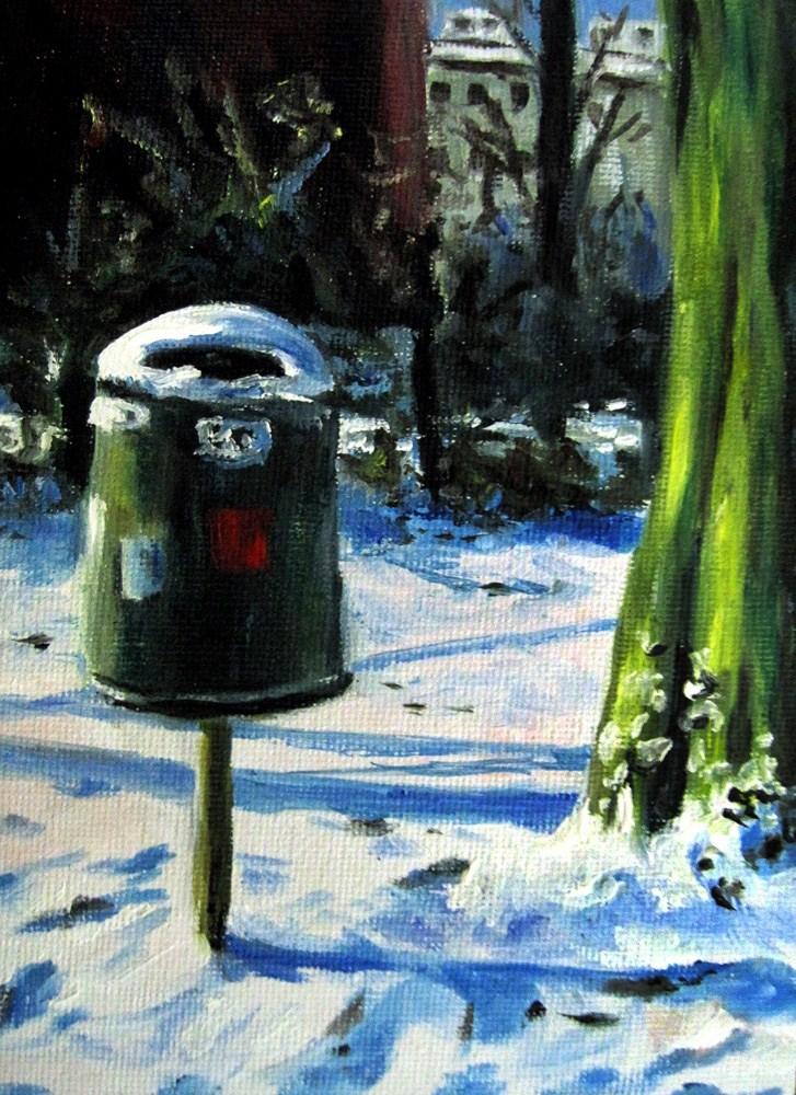 """""""Snowed in Bin"""" original fine art by Ulrike Miesen-Schuermann"""