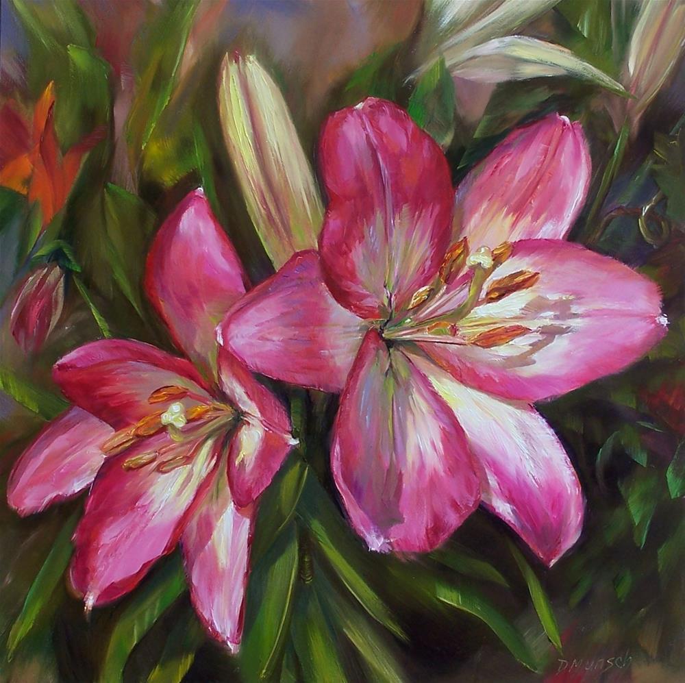 """""""Intense Pink"""" original fine art by Donna Munsch"""