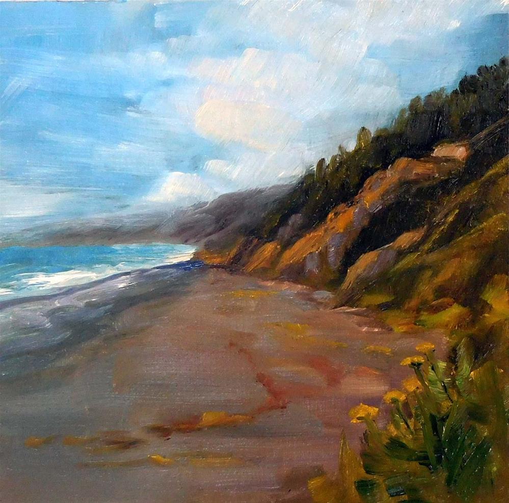 """""""Black Sands Beach, North View"""" original fine art by Cietha Wilson"""