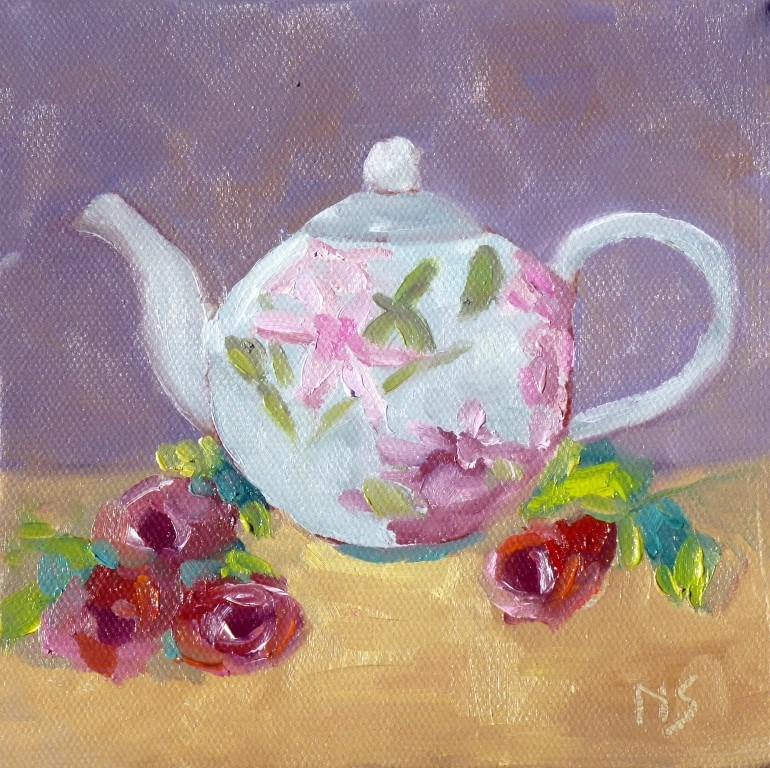 """Teapot 14029"" original fine art by Nancy Standlee"
