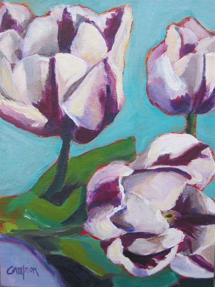 """Raspberry Ripple"" original fine art by Diane Campion"