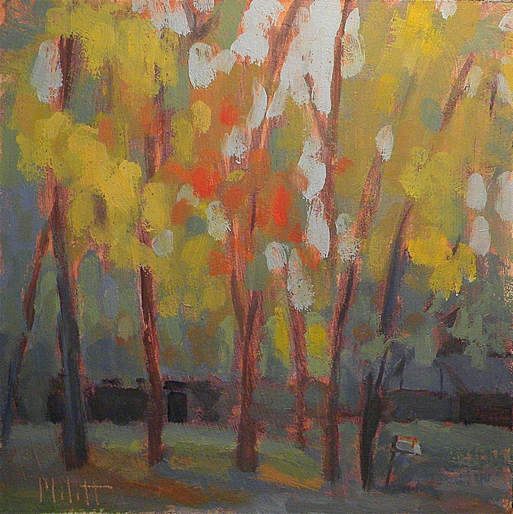 """Autumn Impressionism Landscape Oil Painting"" original fine art by Heidi Malott"