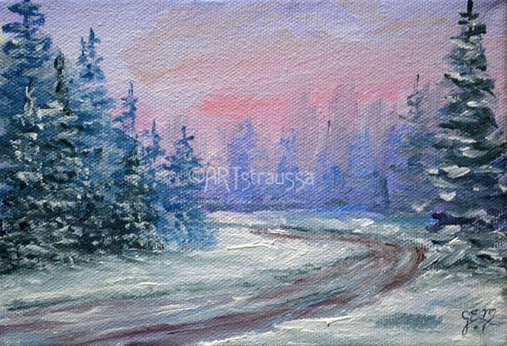 """Virginia Brooks Road"" original fine art by Gloria Ester"