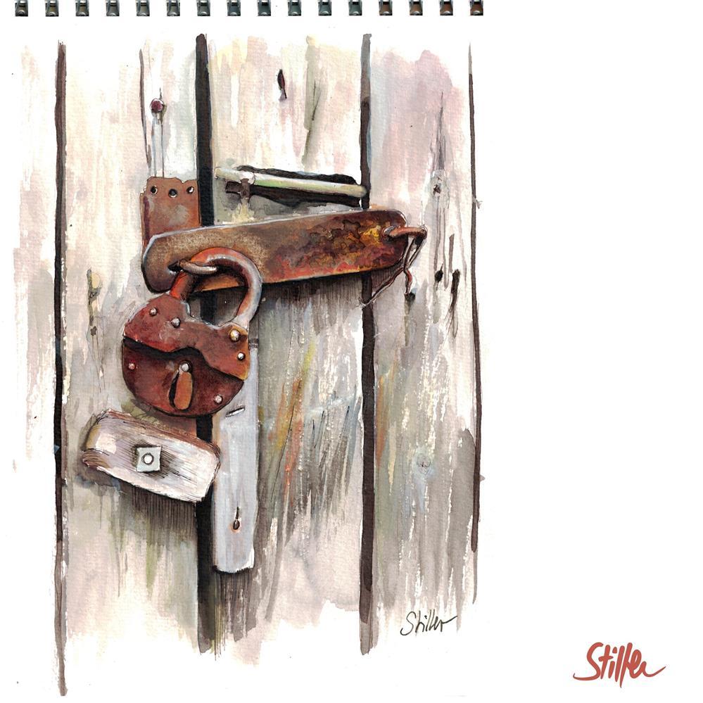 """3535 Lock"" original fine art by Dietmar Stiller"