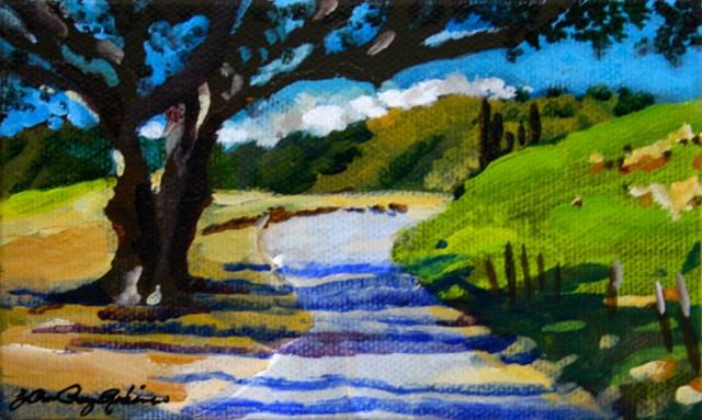 """""""It Ain't Easy Being Green"""" original fine art by JoAnne Perez Robinson"""