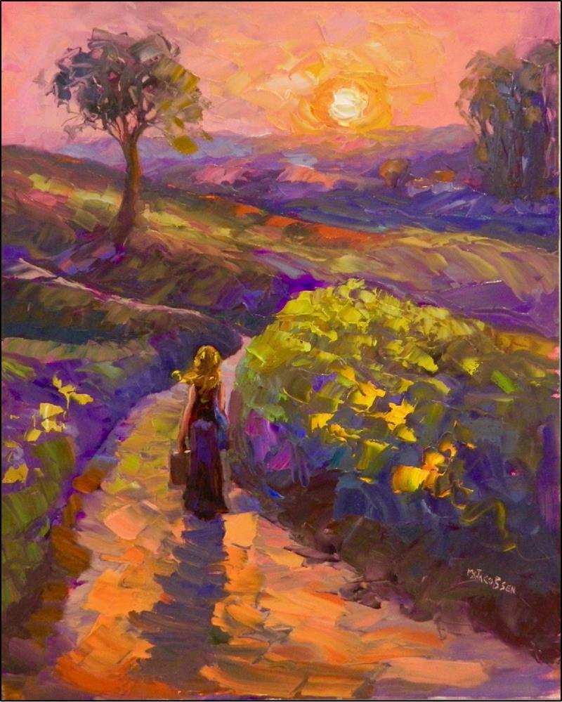 """The Long Walk Home, 16x20, oil on Ampersand Panel, Maryanne Jacobsen art, home, Wizard of Oz, Doro"" original fine art by Maryanne Jacobsen"