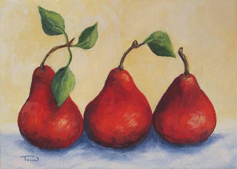 """Fresh Red Pears"" original fine art by Torrie Smiley"