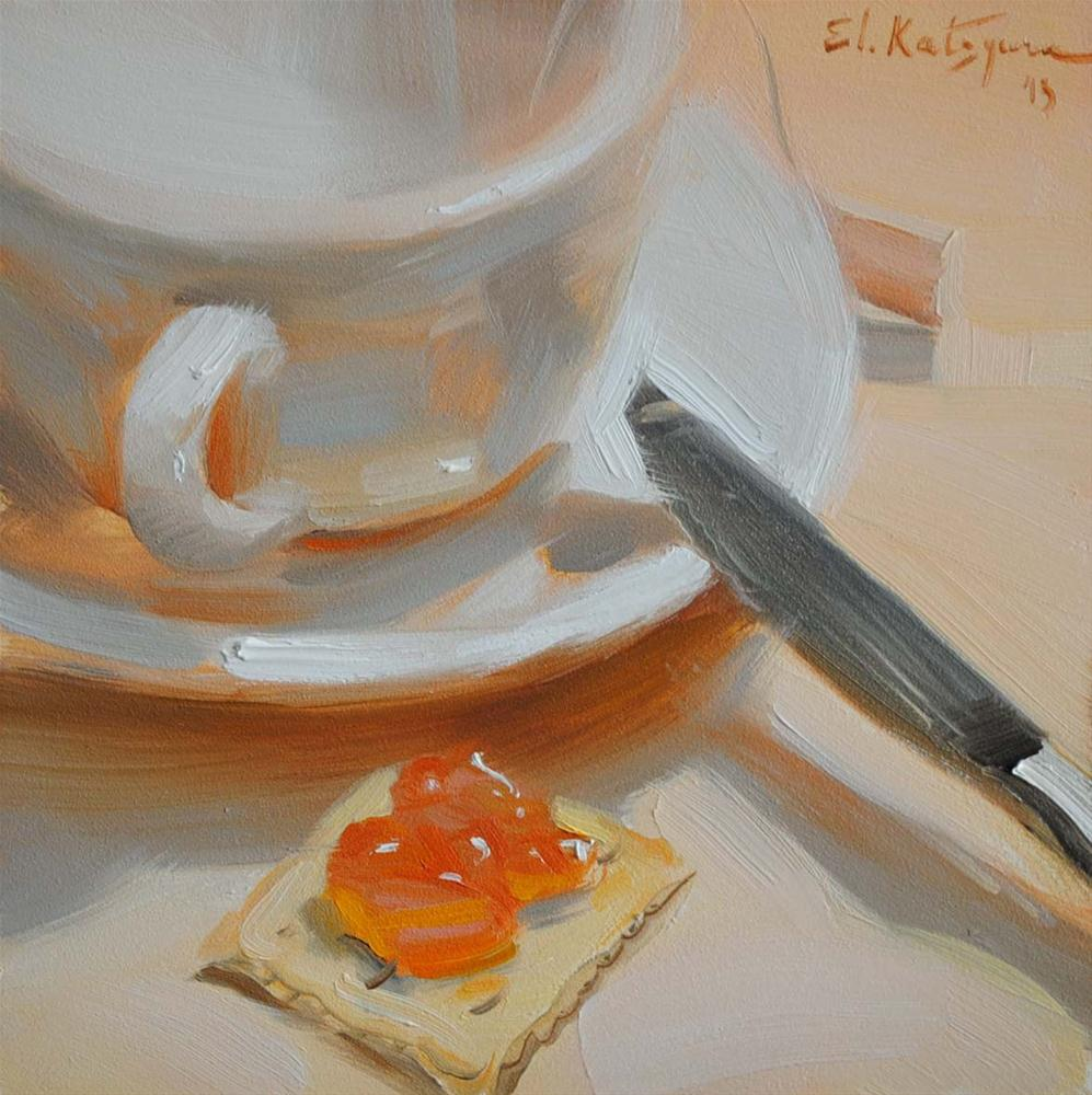 """Before Breakfast"" original fine art by Elena Katsyura"