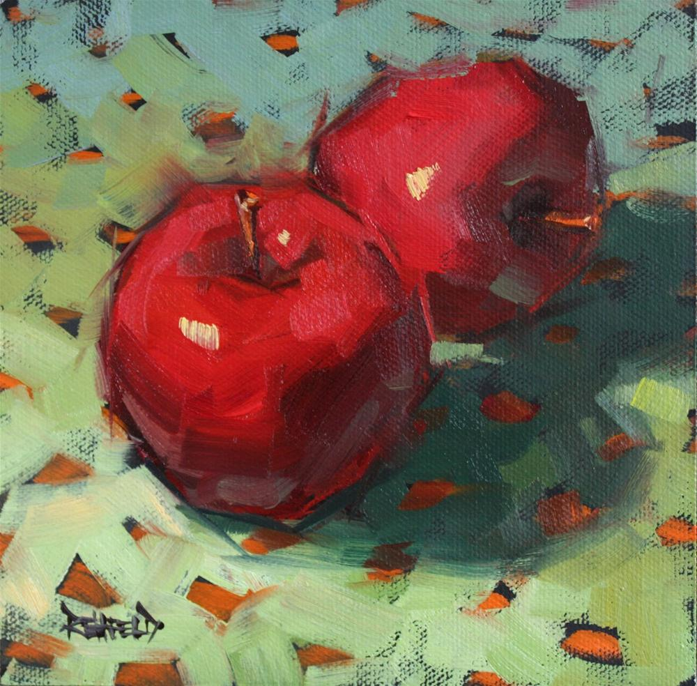 """Dots and Apples"" original fine art by Cathleen Rehfeld"