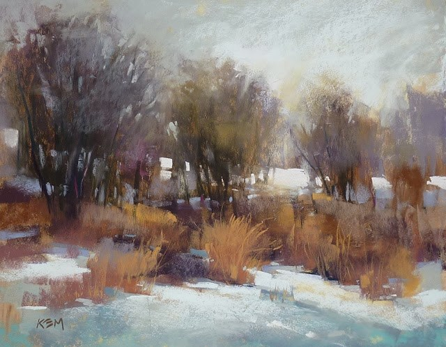 """New Winter Landscape Video Available!"" original fine art by Karen Margulis"