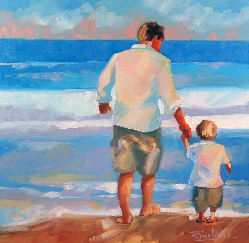 """No 427 First Waves"" original fine art by Robin J Mitchell"