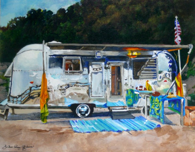 """""""Dusk and the Airstream"""" original fine art by JoAnne Perez Robinson"""