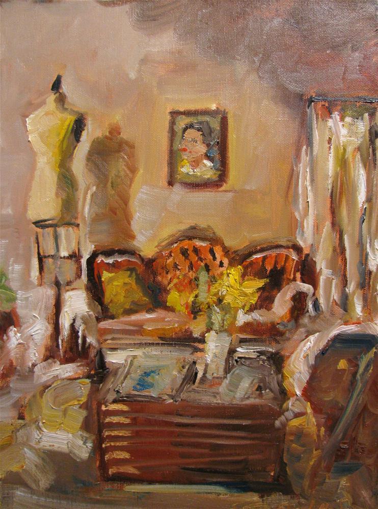 """Velvet Sofa"" original fine art by Susan Elizabeth Jones"