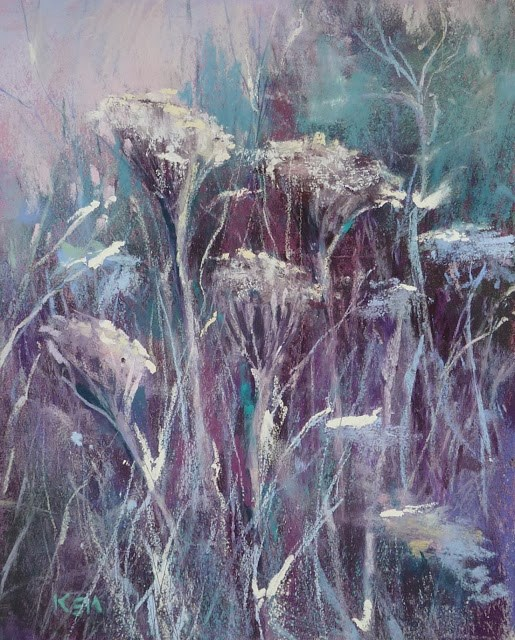 """Painting Frost with Pastels"" original fine art by Karen Margulis"