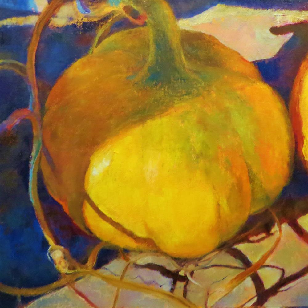 """""""Gourd Aglow"""" original fine art by Aimee Deneweth"""