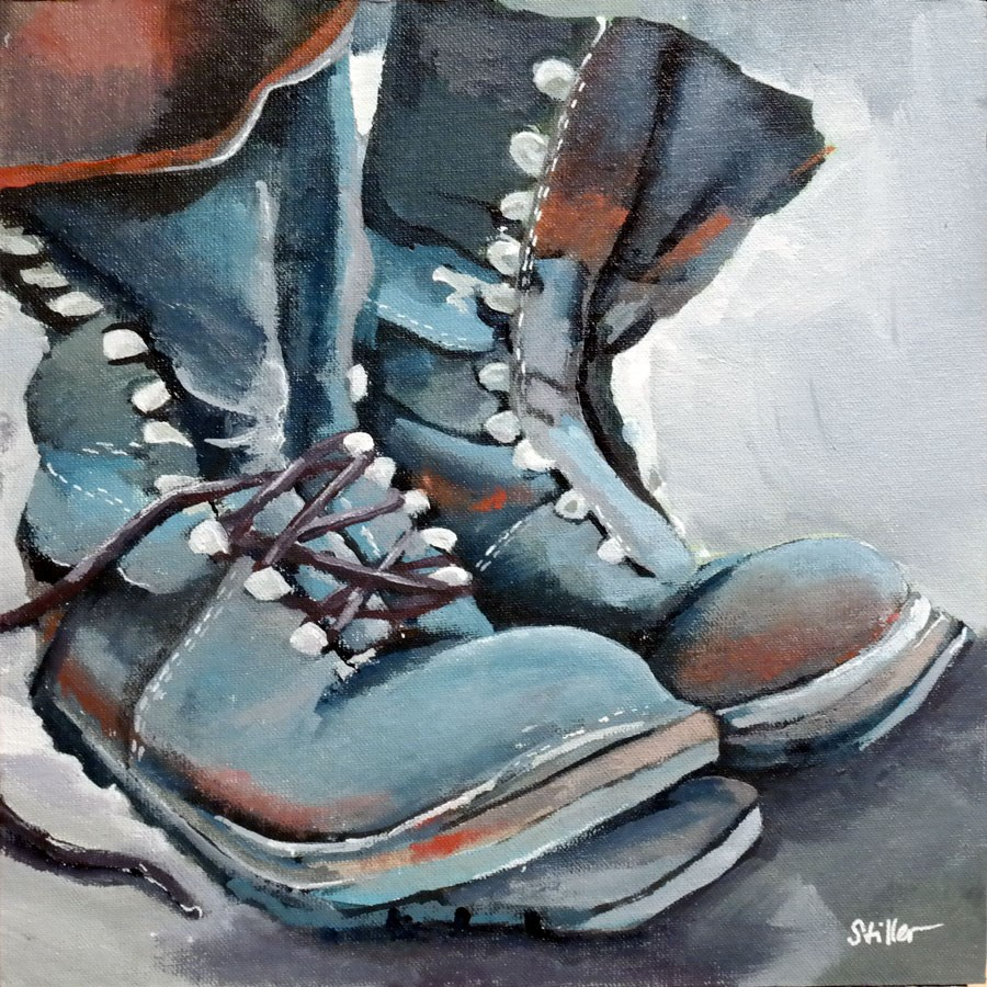 """2342 Stinkboots"" original fine art by Dietmar Stiller"