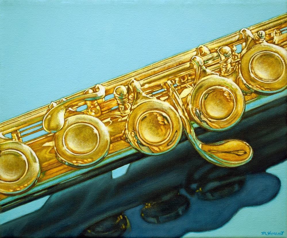 """""""Golden Flute"""" original fine art by Margaret Horvat"""