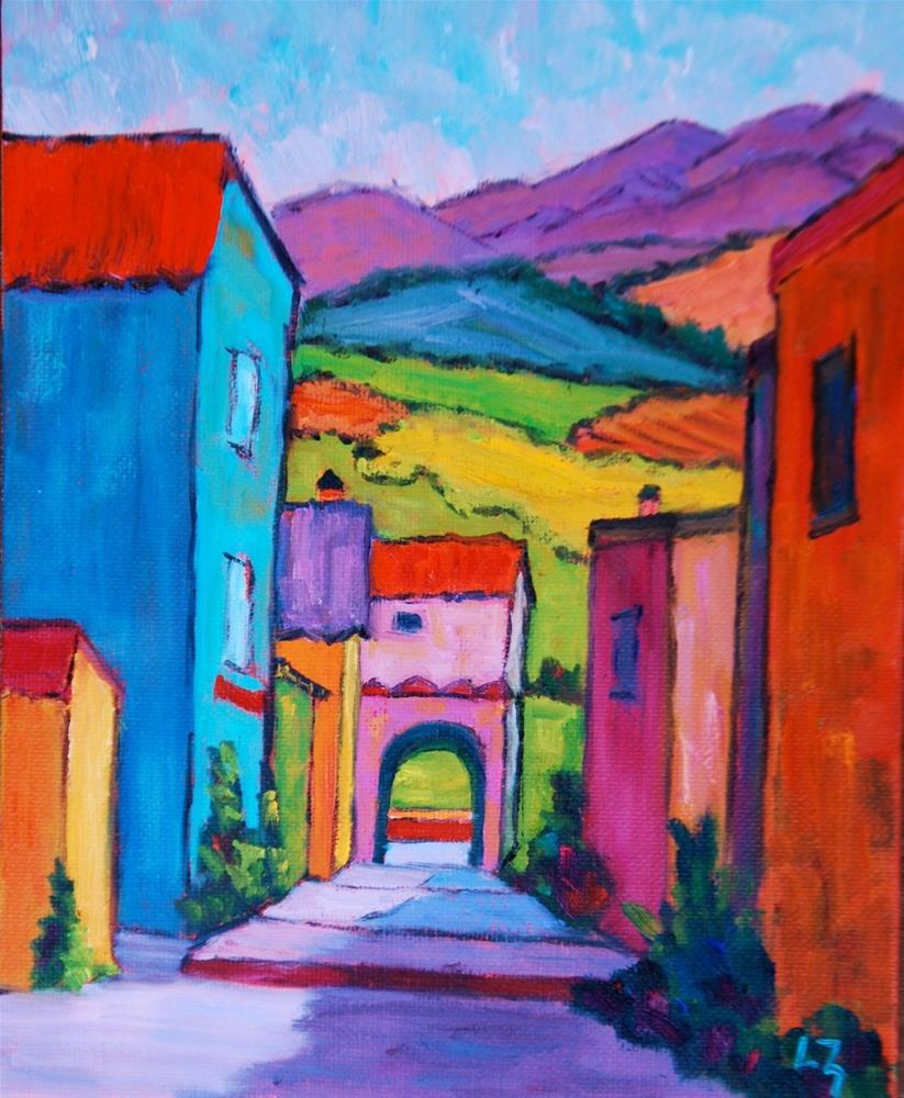 """Through the Archway"" original fine art by Liz Zornes"