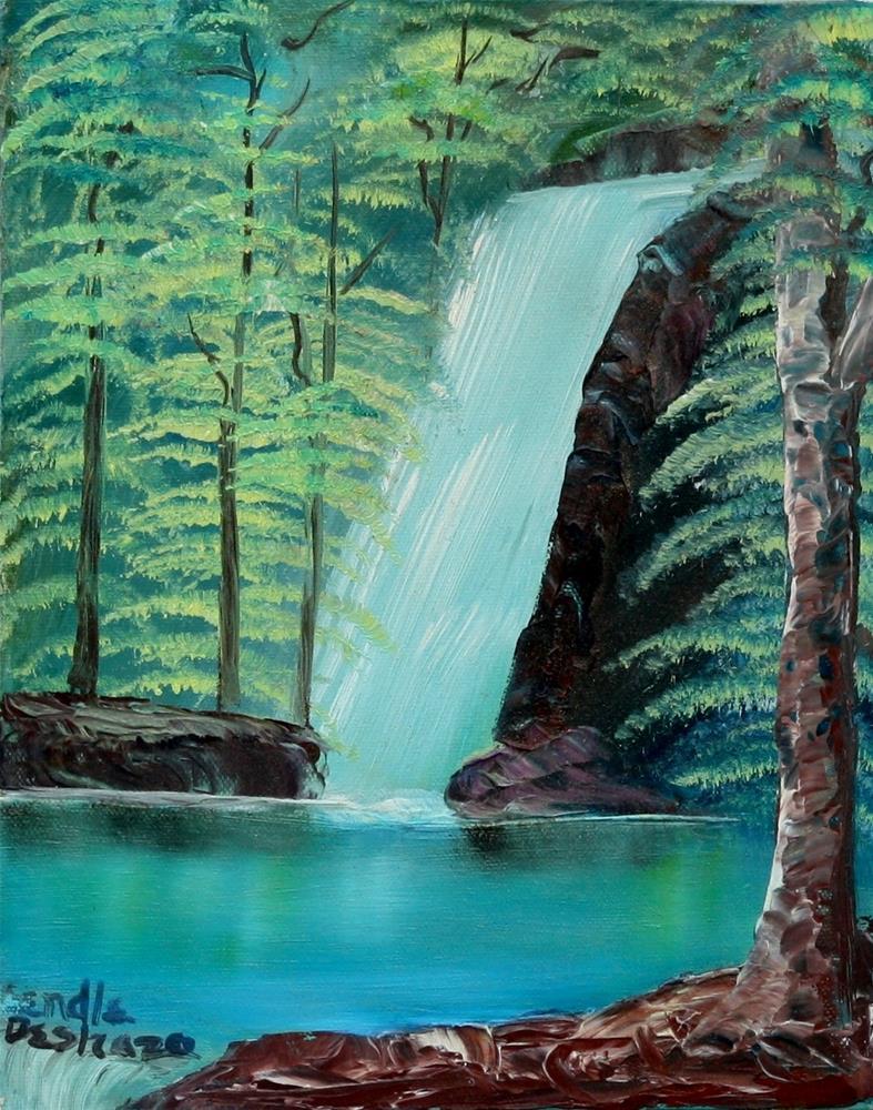 """""""Waterfall 2"""" original fine art by Lendel Holmes"""