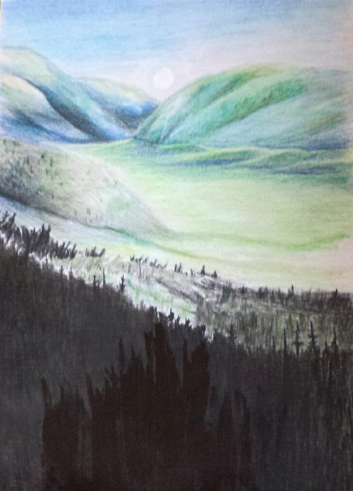 """Imagined Valley original mixed media drawing/painting"" original fine art by tara stephanos"