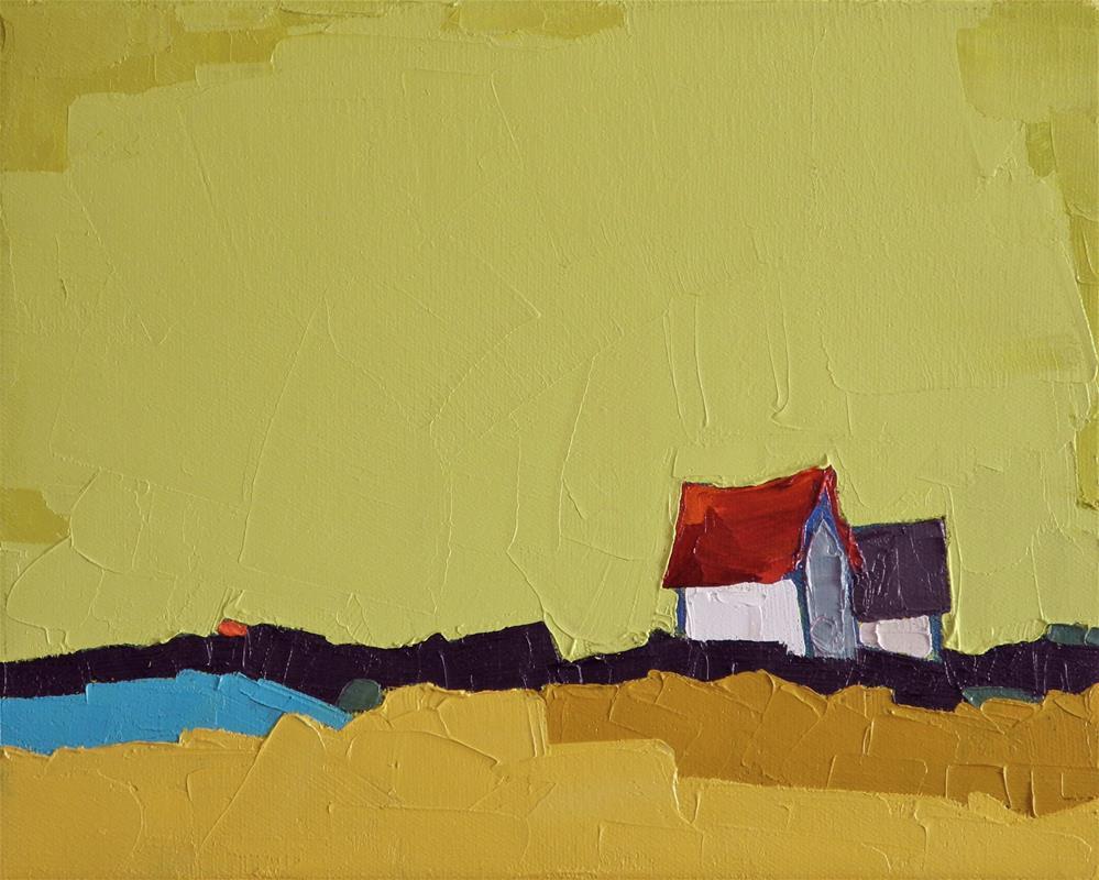 """Yellow Harmony"" original fine art by Donna Walker"