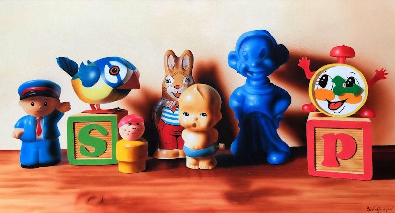 """Toys R Us"" original fine art by Fred Schollmeyer"