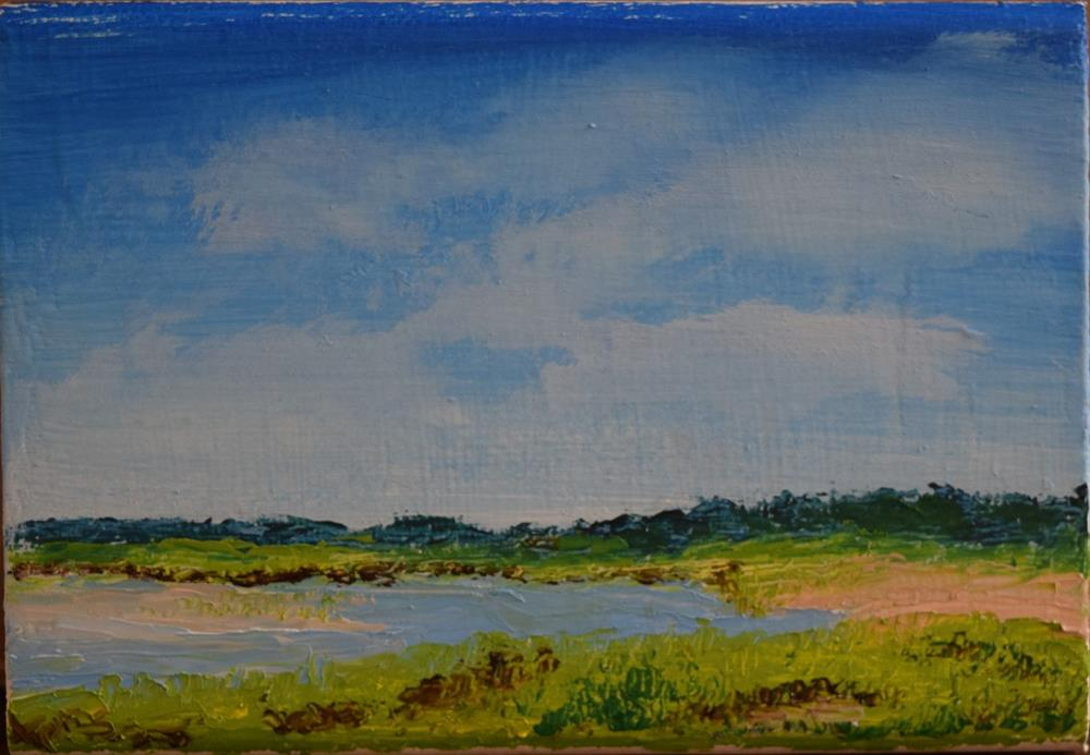 """Quiet Beach at Low Tide"" original fine art by Tisha Mark"