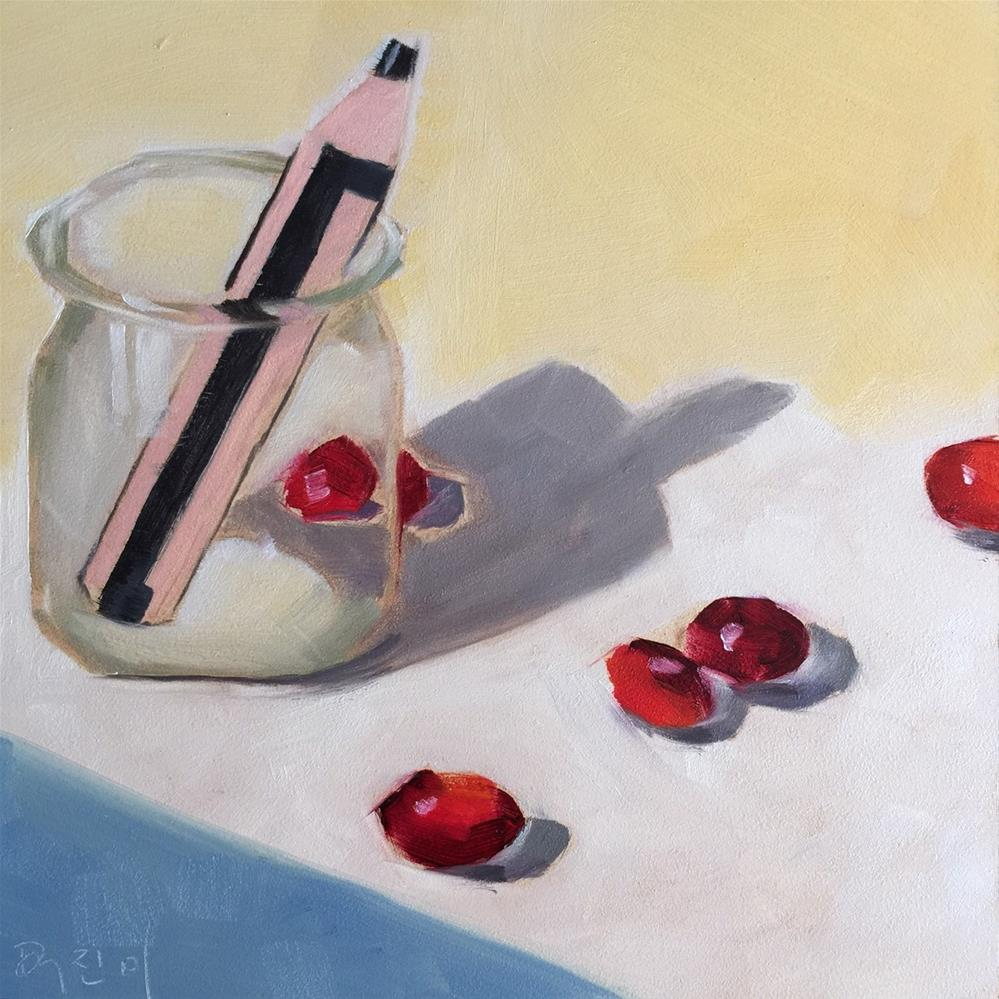 """""""115 March of the Cranberries"""" original fine art by Jenny Doh"""