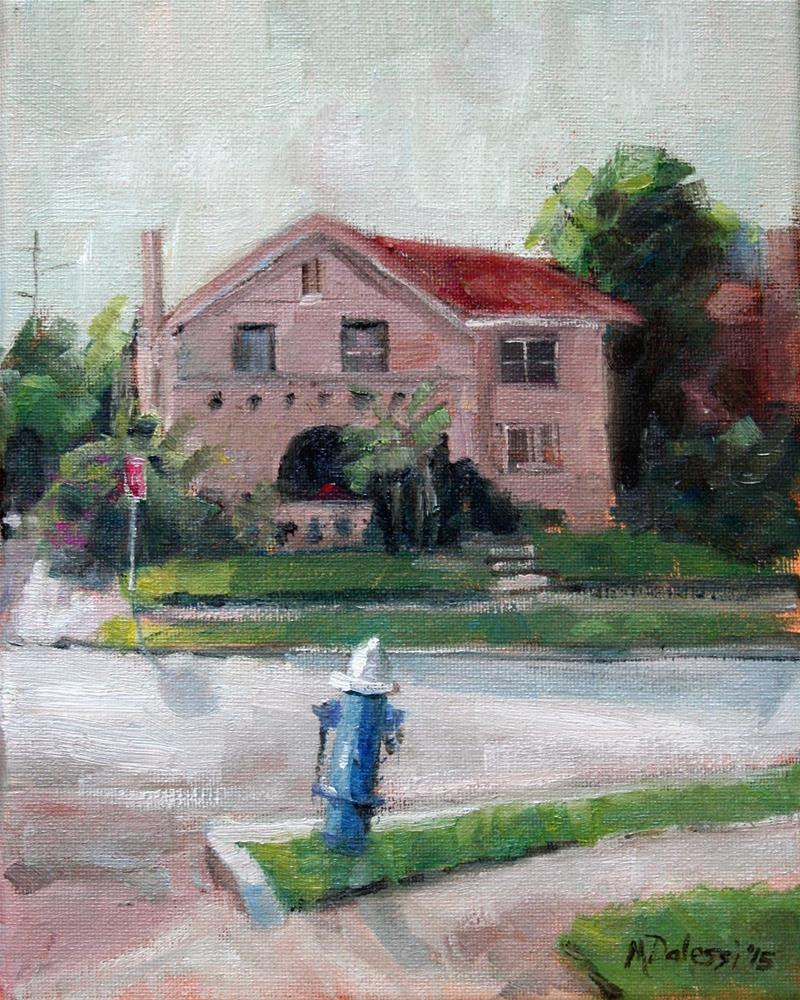"""""""House with a face"""" original fine art by Miranda Dalessi"""
