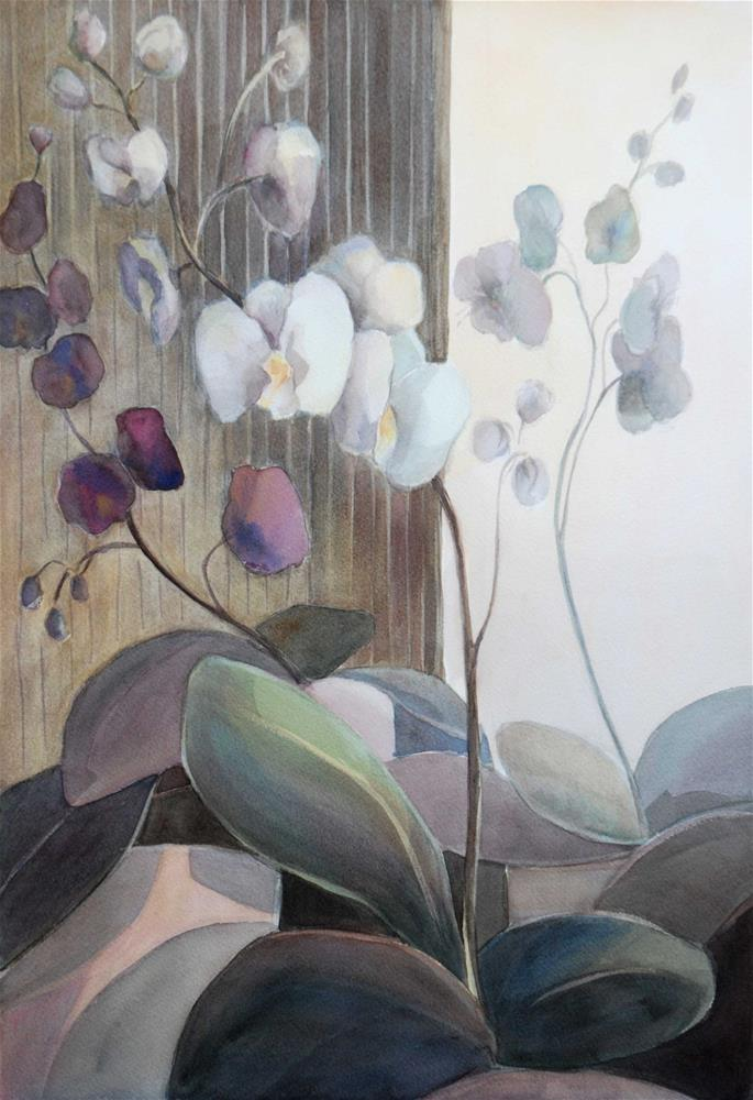 """Orchids"" original fine art by Olga Touboltseva-Lefort"