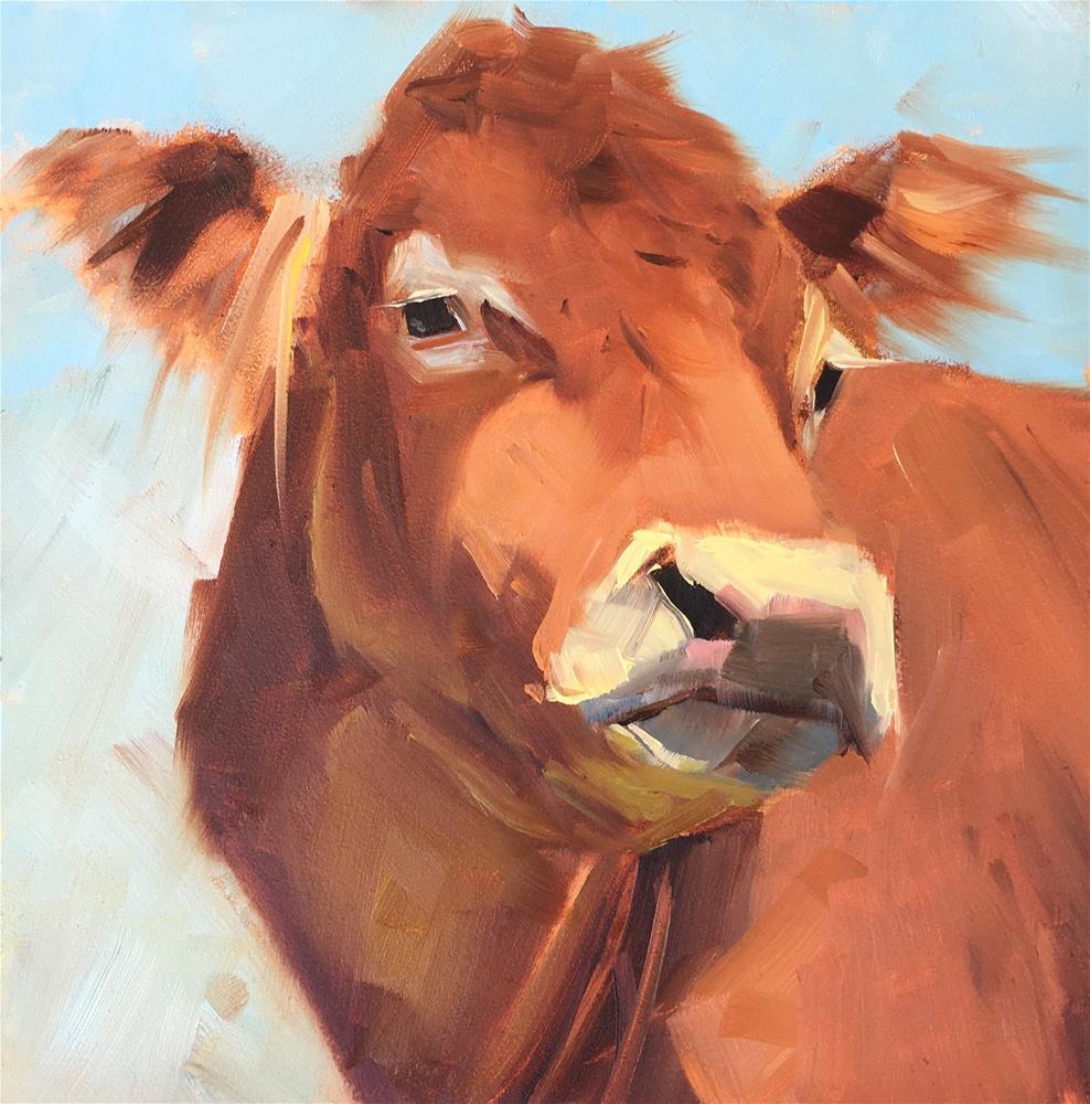 """#347 Miss Afton"" original fine art by Patty Voje"