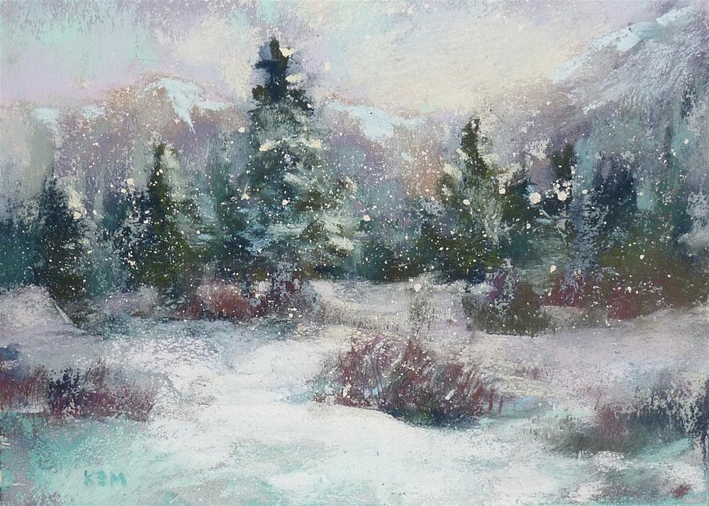 """Breaking Free From your Photos...Painting Winter"" original fine art by Karen Margulis"