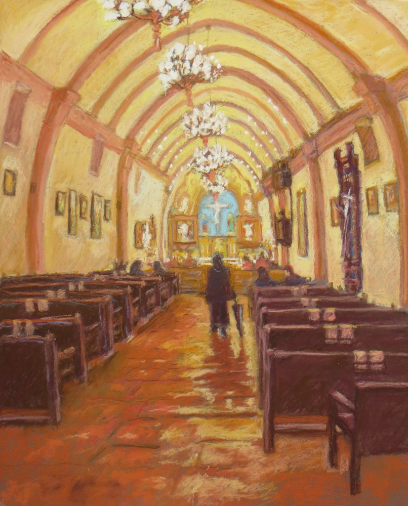 """Carmel Mission Sanctuary"" original fine art by Rhett Regina Owings"